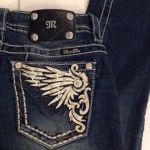 🍃🌹'Miss Me' -  'Dove Wings' Mid Rise Skinny's